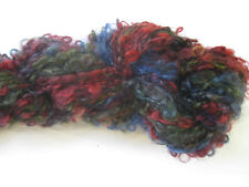 100gm Loopy Boucle Mohair Designer Hand-dyed Yarn Red Olive Blue Knitting 100m