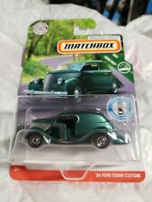'36 Ford Sedan Custom * Green * Matchbox Moving Parts D Case