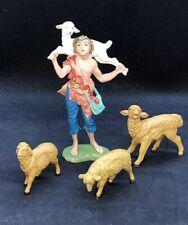 Fontanini Depose Shepherd Gabriel sheep Lot Nativity Figure # 123 Vintage