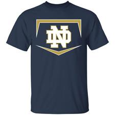 Men's Notre Dame Fighting Irish Baseball Logo 2020 Navy T-Shirt S-5XL