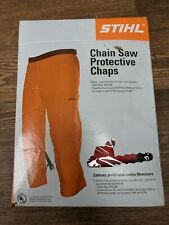"Stihl Chain Saw Protective Chaps.  32"" length  30""-42 waist Orange NEW"