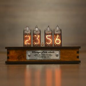 Nixie Tube Clock with Replaceable IN-14 Tubes, Motion Sensor, Visual Effects