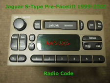 JAGUAR S-TYPE PRE-FACELIFT RADIO UNLOCK CODE DECODE CASSETTE PLAYER