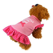 Summer Puppy Small Dog Pet Apparel Apparel Clothes Fly Sleeve Dresses Pet Shirts