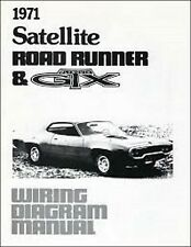 1971 PLYMOUTH GTX ROAD RUNNER BELVEDERE SATELLITE WIRING DIAGRAMS MANUAL NEW