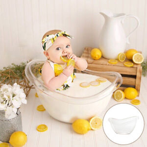 1pc Transparent Baby Newborn Photography Props Cute Mini Bathtub Bucket