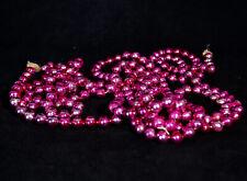 "Antique Vtg Christmas Mercury Glass Pink Medium 3/8"" Bead Garland 102"""