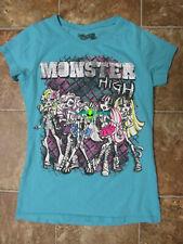 Monster High Short Sleeve T-Shirt - Girls Size XL (16) - Blue
