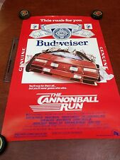 The Cannonball Run/Budweiser 1981 Original Movie Poster 31x 20