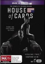 House of Cards - Season 2 (4 DVDs) - Very Good - Region 4 - Aust Seller