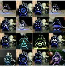 LED Car Logo Keychain Crystal Light Colours Changing Keyring Car Key Chain Key