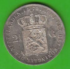 Niederlande 2 1/2 Gulden 1872 in vz hübsch nswleipzig