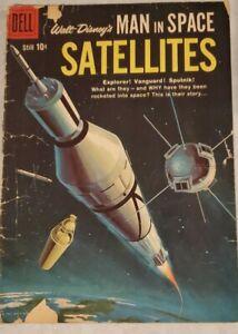 Walt Disney's MAN IN SPACE -  SATELLITES, #954, Dell Comic 1958 - educational