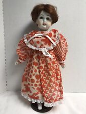 """Vintage Antique French Or German Doll 18"""" Bisque Porcelain Cloth Body Doll"""