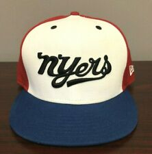 New Era NYers Snapback Hat Red/White/Blue/Black PRE-OWNED VERY VERY RARE HAT