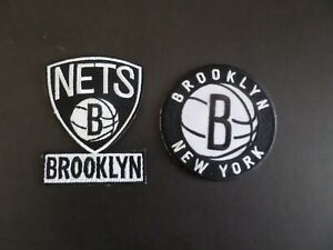 LOT OF 2-BROOKLYN NETS BASKETBALL EMBROIDERED IRON ON PATCHES