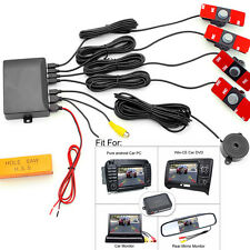 Car Video Parking Sensor Reverse Backup Radar Alarm System+16MM Flat Sensors