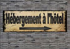 Hotelunterkunft Sign Plaque German Hotel Sign Antique Style Wandtafel