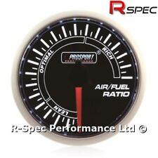 Prosport 52mm Smoked Super White Stepper Motor AFR Air Fuel Ratio Gauge Kit