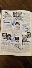 1979 Nhl Challenge Cup Program Signed Auto By 34 Ken Dryden Bossy Clarke Lafleur