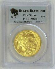 2013 GOLD 1oz $50 AMERICAN BUFFALO BLACK DIAMOND COIN PCGS MINT STATE 70