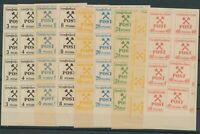 Lot Stamp Germany Collection Locals Grobraschen Ten Short Sets Dealer Stock MNH