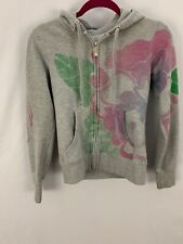 O'NEILL  Juniors Small Gray Floral Zip Hoodie