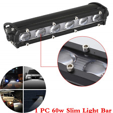 "1Pcs 6D Single Row 8"" 60W Car SUV LED Work Light Bar Spot Beam Driving Fog Lamp"