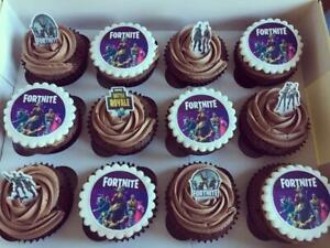 FORTNITE 15 x PERSONALISED  EDIBLE CUPCAKE TOPPERS  - SAVE £ ON OUR CAKE SETS