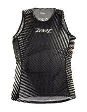 Zoot Sports Mens Triathlon Cycling Base Layer Medium Black White Stoke Print