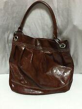 NINE WEST Cognac Purse Tote Satchel Brown Hobo Handbag (1397)