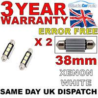 2 X 38MM 39MM 3 SMD LED 239 272 C5W INTERIOR LIGHT FESTOON BULB CANBUS NO ERROR