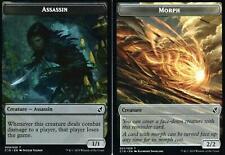 2x Assassin // Morph Token | NM/M | Commander 2019 | Magic MTG