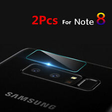 2Pcs Tempered Glass Back Camera Lens + Flash Protector For Samsung Note 8