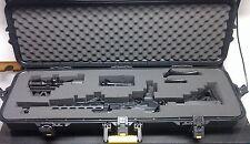 Gun Case Storage Waterproof Safety Lockable Hard Shell AR 15 Rifle Firearm Scope