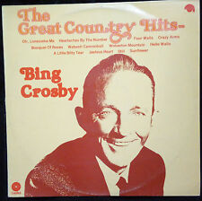 BING CROSBY - THE GREAT COUNTRY HITS VINYL LP AUSTRALIA