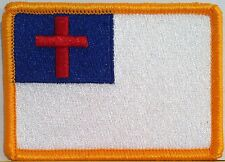 CHRISTIAN Flag Patch with VELCRO® brand fastener Biker Military Emblem