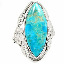 Sleeping Beauty Turquoise Native American Reproduction Ring Jewellery Uk O Us 7