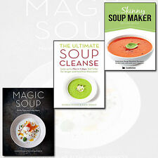 Skinny Soup Maker,Ultimate Soup Cleanse,Magic Soup 3 Books Collection Set NEW Uk