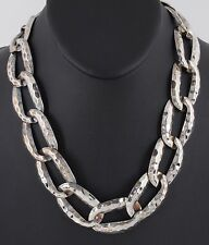 FASHION HAMMERED CHAIN LINK NECKLACE COSTUME 4899B