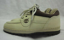 Timberland Athletic Shoe Size 7M NWOT Beige & Brown Canvas Rubber NonSkid Soles