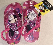 NWT Disney Minnie Mouse Purple Flip Flops for Kids Pick Size