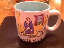 Jim Benton $hit Shot Coffee Mug Golf Toilet Tea Cup Golfer Club Bathroom Cartoon