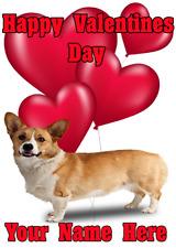 Pembroke Welsh Corgi tv212 Fun Cute valentines Day Card A5 Personalised Greeting