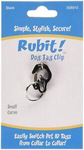 Rubit - Dog Tag, Quick Release Holder Clip - Pink Blue Black Red Purple S M L
