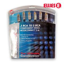 Premium 3 RCA to 3 RCA Male Cable AV Composite Audio Video Cord TV DVD STB 5m