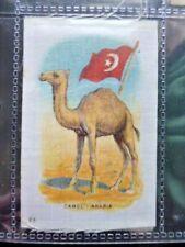 "I.T.C. WW1 ERA SILK ""ANIMAL WITH FLAG"" CAMEL - ARABIA NO.23"