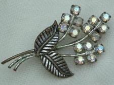 Diamante Brooch/Pin Retro Costume Jewellery (1940s)