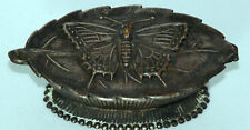 ANTIQUE W. Avery & Son Redditch~~BUTTERFLY on LEAF NEEDLE CASE~~c1880's
