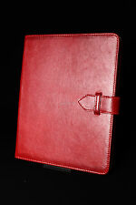 iPad 2 3 & 4 (Red Nappa Lambskin) Real Genuine Soft Leather Cover Case Stand